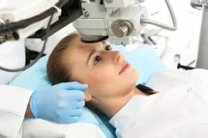 San Diego patient receiving LASIK eye surgery